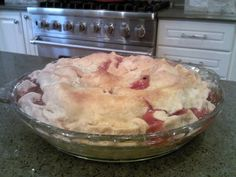 Strawberry Rhubarb Pie and Pie Crust Recipe!  Favorite summer pie!