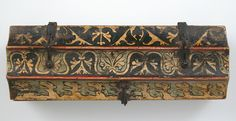 Painted Box for Game Pieces - Upper Rhine, Germany - c. 1300 - Top View