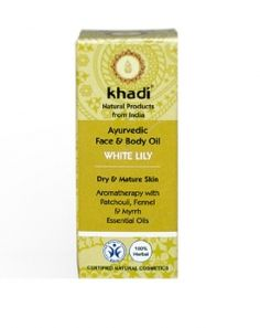 Khadi Olejek do twarzy i ciała z białą lilią 10 ml