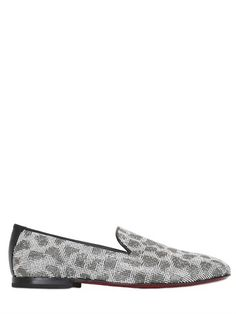 Leo Pattern Crystal Embellished Loafers