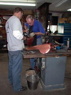 Jesse James, Fay Butler, MM3 Copper Work, West Coast Choppers, Jesse James, Butler, Workshop, Motorcycle, Jessie James, Atelier, Work Shop Garage