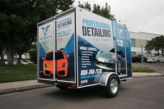 Next Generation Professional Mobile Vehicle Detailing Trailer