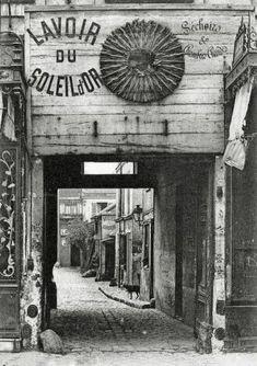 Ancien cabaret du Soleil d'Or en 1900 à Paris