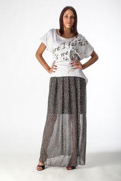 Falda negra de lunares, black spotted skirt, gonna nera a pois.