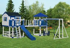 playhouse swing set plans | Swingset C-5 Castle | Vinyl children's outdoor playset (swing set ...
