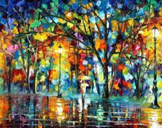 OIL ON CANVAS PAINTING DIRECTLY FROM FAMOUS ARTIST LEONID AFREMOV   Title: Guitar And Soul Size: 24 x 30 inches (60 cm x 75 cm) Condition: Excellent Brand new Gallery Estimated Value: $6,500 Type: Original Recreation Oil Painting on Canvas by Palette Knife  This is a recreation of a piece which was already sold.  Its not an identical copy, its a recreation of an old subject. This recreation will have texture unique just to this painting, a fingerprint that can never be repeated. My…