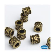 JEWELRY-MAKING-ANTIQUE-BRASS-Bronze-Vintage-Style-Bead-Spacer-w-Large-Hole-30PCs