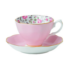 Youthful and exuberant, this Formal Vintage Teapot is rendered in fine bone china, and combines classic form with intricate detailing, vibrant colors and a lustrous gold rim.