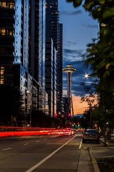 Evening streets of Seattle