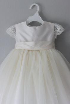 Flowergirl Dress, Tulle Dress, Dress Lace, Cap Dress, Baby Blessing Dress, Baby Christening Gowns, Wedding Bridesmaid Dresses, Bridesmaid Ideas, Dress Wedding