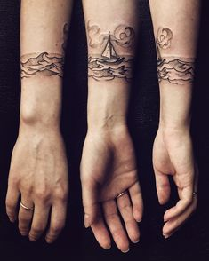 Tiny sailboat for sweetest Tanya ✨⛵️ #tattoo #blacktattoo #ink #forearm…