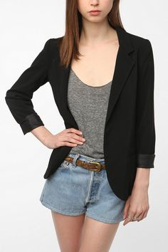 Silence & Noise Boyfriend Blazer from Urban Outfitters -   I've been looking for the perfect boyfriend blazer and this is the perfect one!!! It comes in 4 different colours and it's so hard to pick that I just want them all! I would pick black though just so it's more basic and versatile.