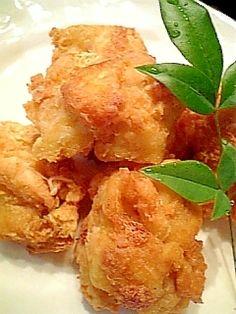 """Deep‐fried frozen TOFU"" - japanese recipe/目からうろこの味!ヘルシーな冷凍豆腐のから揚げ♪"