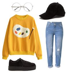 """90s 00s child"" by jasielskaj on Polyvore featuring WithChic"