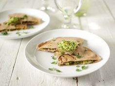 Early-Spring Green Quesadilla: We used lentils, sauteed leeks, red ...