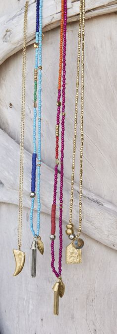 Chico's Leona Horn Necklace, Posy Tassel Necklaces and Leona Pendant Necklace. The perfect shimmery pendants for summer