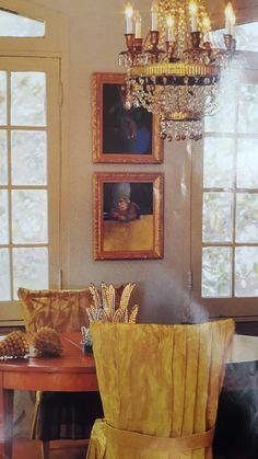Ann Dupuy's dining room. House Beautiful. January 1994.