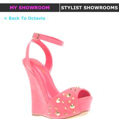 Shoe of the month! Pink Girl, Addiction, Fashion Accessories, Stylists, Shoe, Sandals, Heels, Pretty, Heel