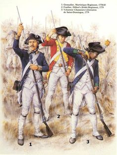 UNIFORMS OF THE AMERICAN REVOLUTION -- French Army