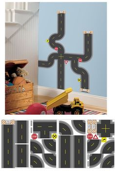 b31aa16699f RoomMates Build-A-Road Peel   Stick Wall Decals Image 1 of 3. Wall Sticker  Outlet