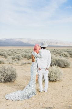 Ditch the black suit and try a desert wedding in Vegas that is unlike anything you've ever seen! Photo by Rock n Roll Bride Wedding Dress Sleeves, Long Sleeve Wedding, Wedding Dresses, Sequin Wedding, Sparkle Wedding, Sticks And Stones Agency, Wedding Fotos, Wedding Pics, Wedding Venues