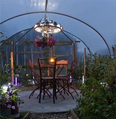 our polytunnels aren't just for growing in....and by night. Fantastic, love this!