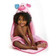 Baby Towel - Zoocchini Pink the Pigglet - Sweet Monkey