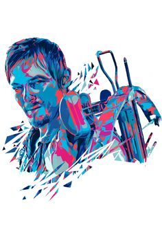 Walking Dead Fan Art-Daryl Dixon by Mink Couteaux Art Walking Dead, The Walking Dead Poster, Stuff And Thangs, Daryl Dixon, Norman Reedus, Zombie Apocalypse, Love Art, Cool Pictures, Horror