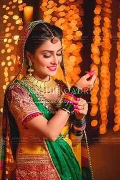 Ayeza Khan On Her Mehandi Stani Wedding Dresses Saree Mehndi Dress