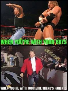 For real tho! Wrestling Memes, Wrestling Superstars, Girl Memes, Girl Humor, Wwe Quotes, Wwe Funny, Hilarious, Boys Vs Girls, Stephanie Mcmahon