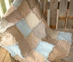 Rag quilt. Really like the colours in this.