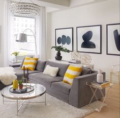High Quality Pop Of Yellow To Brighten Up The Space. Designed By Tara Benet Designu2026