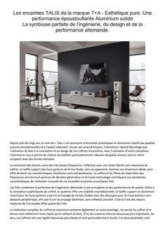Talis T+A chez revendeur en France France, Design, Products, French