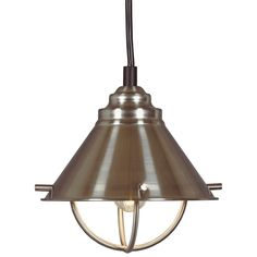 Inspired by nautical lanterns, this mini pendant is a beautiful addition to any kitchen. Available in a brushed steel finish, this fixture subtly complements sink fixtures and cabinet hardware.