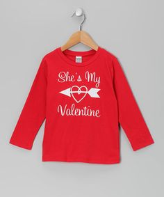 Red 'She's My Valentine' Left Tee - Infant, Toddler & Boys by Bourbon Street Boutique #zulily #zulilyfinds