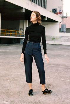 Pantalon à pinces - cropped