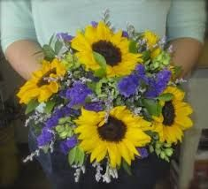 sunflower and purple bouquet - Google Search