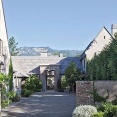 home Architecture Exterior - See How Bobby McAlpine Transformed a Napa Valley Home Into a Refined Haven. Country Home Exteriors, Modern Farmhouse Exterior, Farmhouse Style, Country Houses, Exterior Colors, Exterior Design, Napa Style, Architectural Digest, Architectural Styles