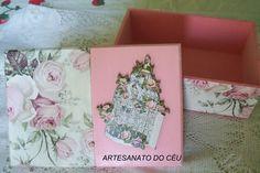 Caixa Gaiolinha Rosa - R$ 25,00 Cod. PCX 216