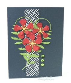 Jean Okimoto-Memory Box-diecuts-Summer Collection-Donnington Tendril-Wicker Panel-Fabulous Phlox-sequins