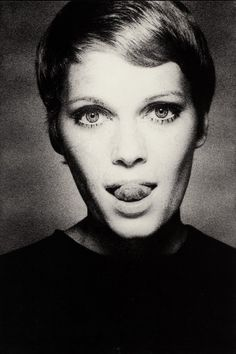 Mia Farrow in Vogue, 1967 by David Bailey