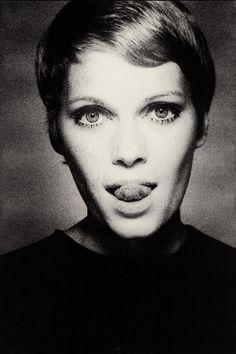 Mia Farrow in Vogue, 1967. Photo: David Bailey.