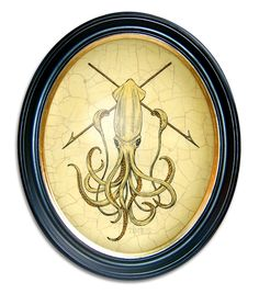 """Combative Cephalopod"" - Tim Tomkinson #Illustration"