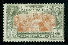 Italy,Scott #143 MLH 20c 300th Ann Propaganda Fide Issue CV$5+