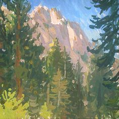 Mike Hernandez Late afternoon lighting from Whitney Portal rd High Sierra gouache Gouache Painting, Watercolor Paintings, Poster Colour, Landscape Paintings, Landscapes, Portal, Scenery, Fine Art, Gallery