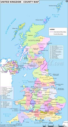 Map Of UK And Ireland | Map of UK Counties in Great Britain ...