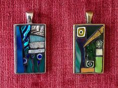 Blue & Green Mosaic Necklaces by Mosaic Geek, via Flickr
