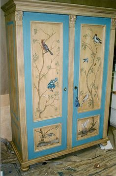 armoire w/ painted panels by heide davis, via Flickr