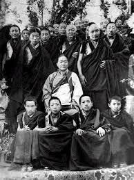 HH Dudjom Rinpoche, supreme teacher of the Nyingma tradition of Tibetan Buddhism, with the major tulkus (re-incarnate lamas) of the tradition