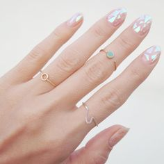 """""""New things: Kurva stack rings from fave Indonesian jewelry designer @fromtinyislands and DIY glassnail stickers from @modinail_official &…"""""""